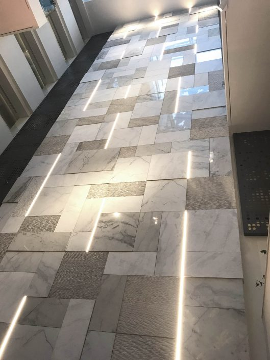 Parnon marble wall cladding Electra Metropolis Athens