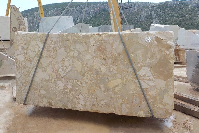 karnazeiko beige breccia marble block